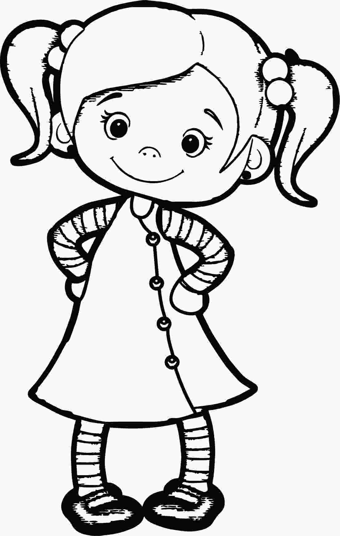 cute school coloring pages beautiful cute girl coloring page wecoloringpagecom