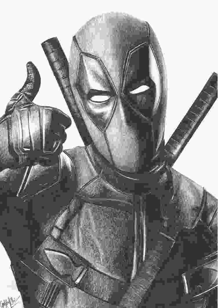 deadpool drawing pin by hero world on deadpool marvel drawings marvel