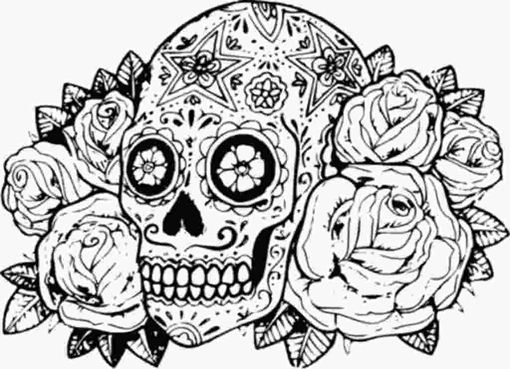 detailed sugar skull coloring pages free skull coloring pages 25 gianfredanet