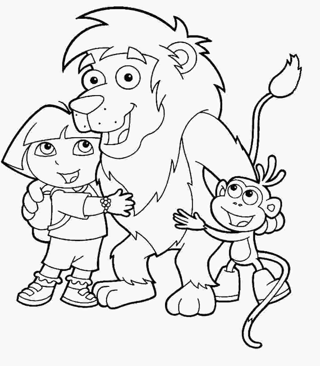 dora coloring book printable dora the explorer printable coloring pages hubpages