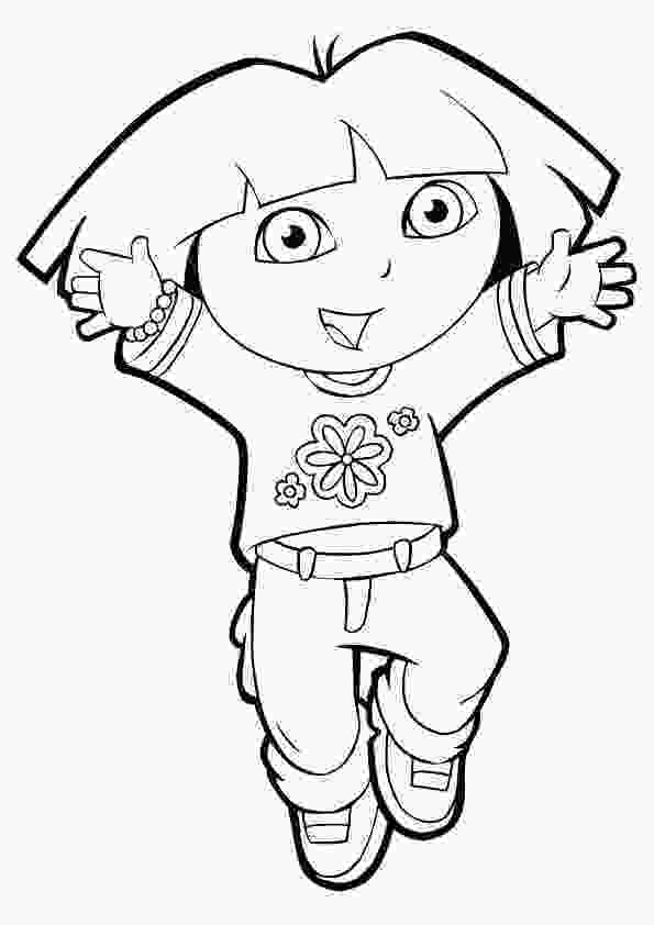 dora colouring pages printable dora coloring pages cutecoloringcom