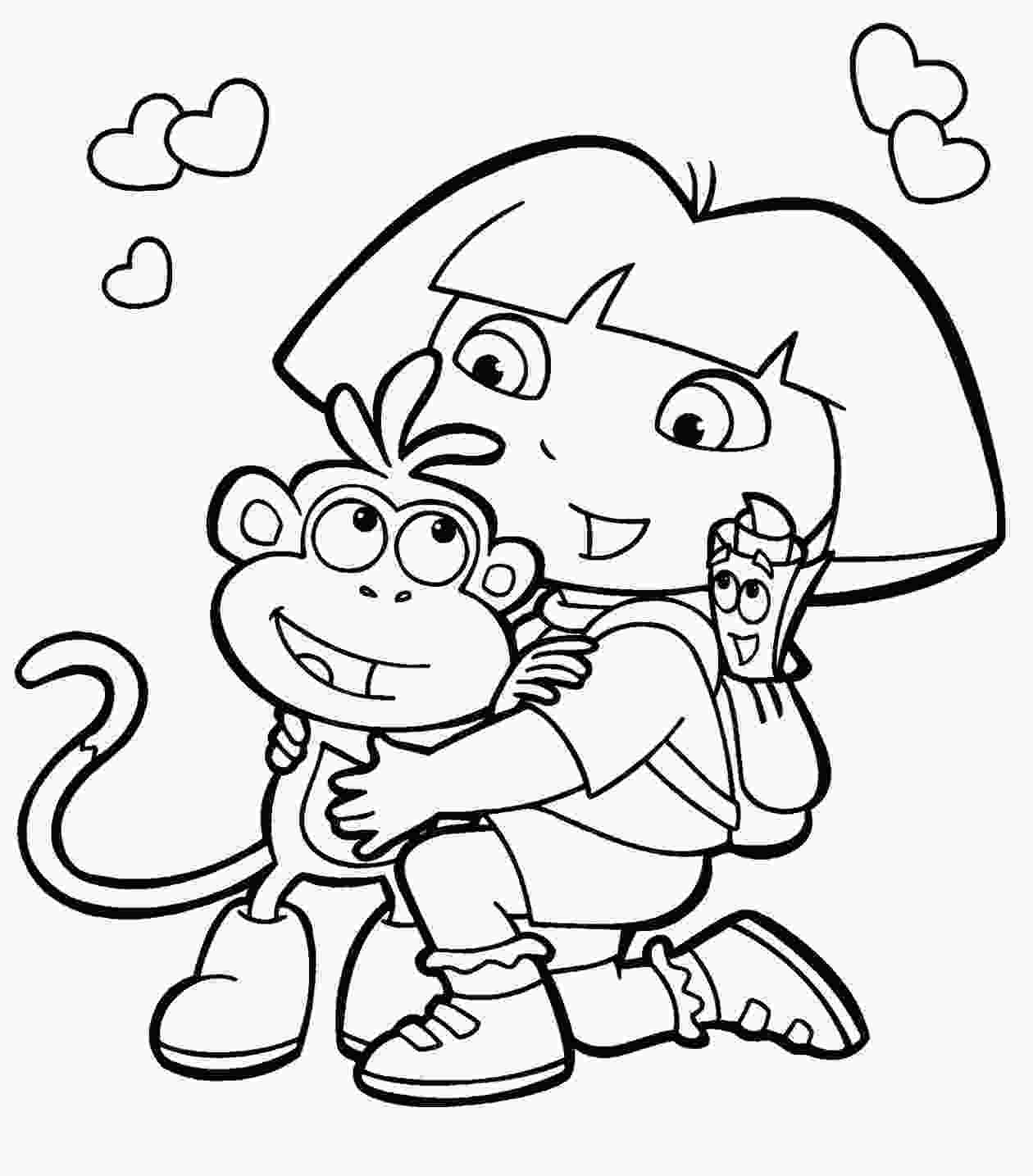 dora colouring pages printable dora coloring pages for kids coloring