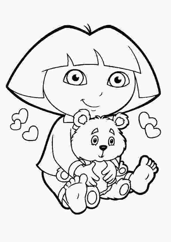 dora colouring pages printable free printable dora the explorer coloring pages for kids 1