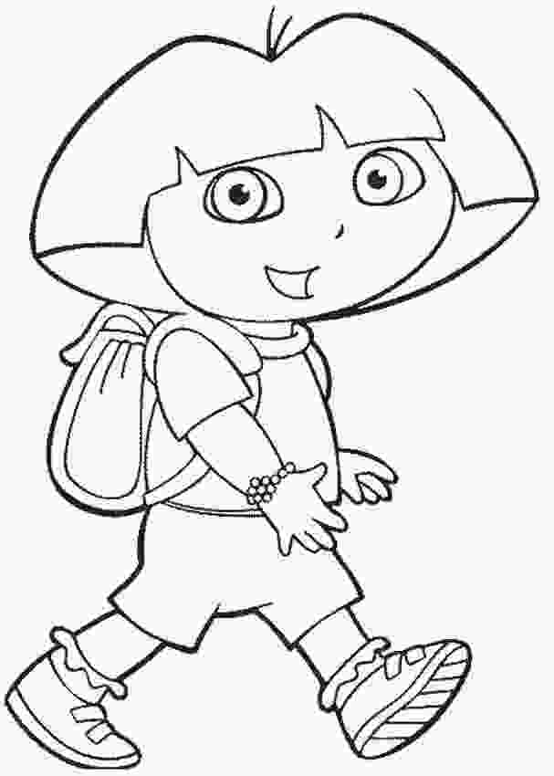 dora colouring pages printable free printable dora the explorer coloring pages for kids 2