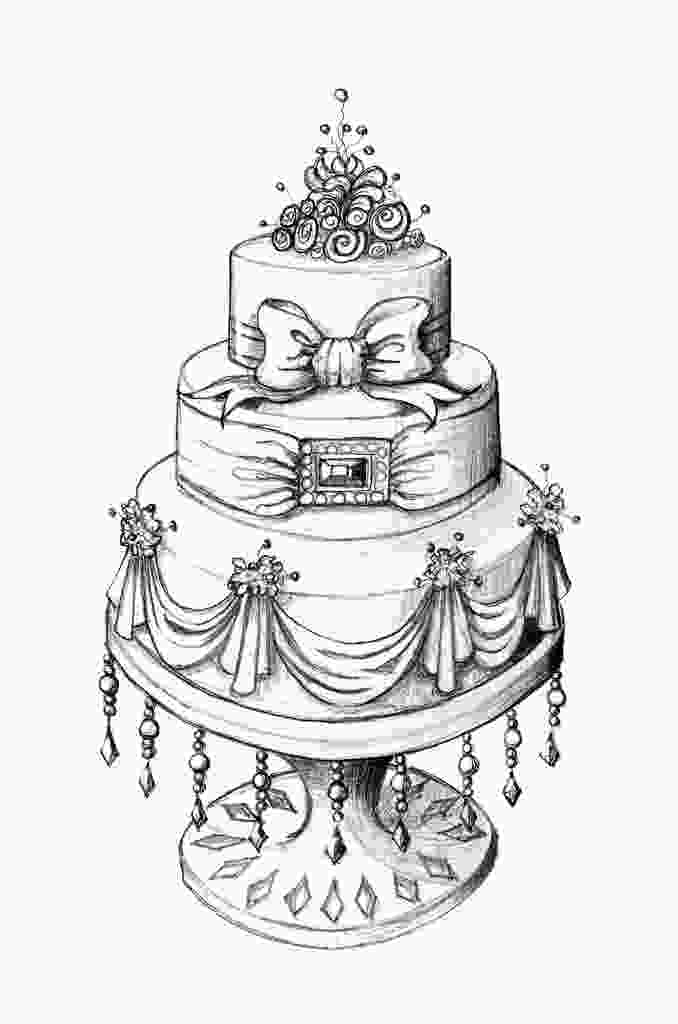 draw cake cake design sketches illustrations cake drawing