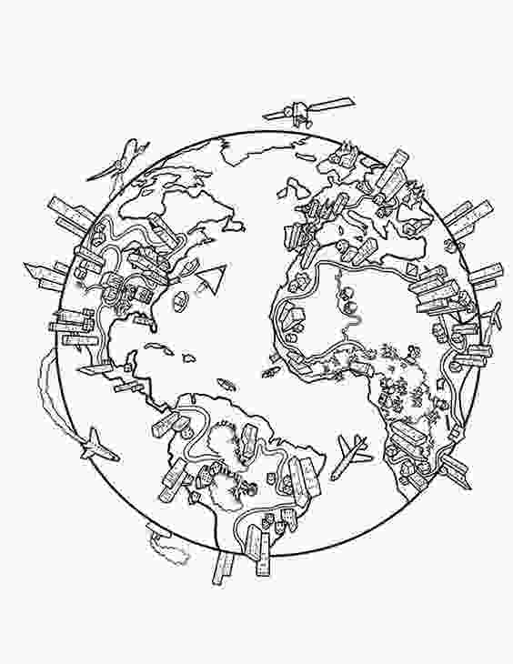 earth map coloring page earth population globe in world map coloring page prek