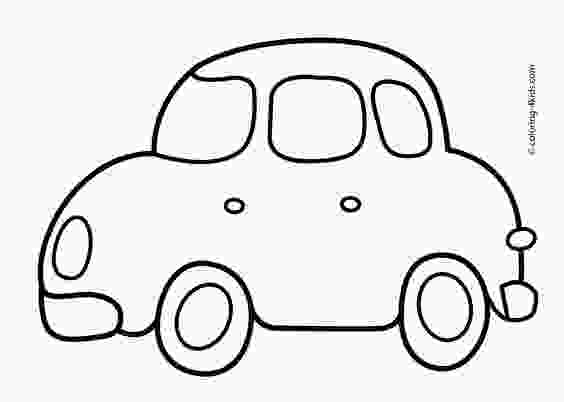 easy printable car coloring pages simple car transportation coloring pages for kids