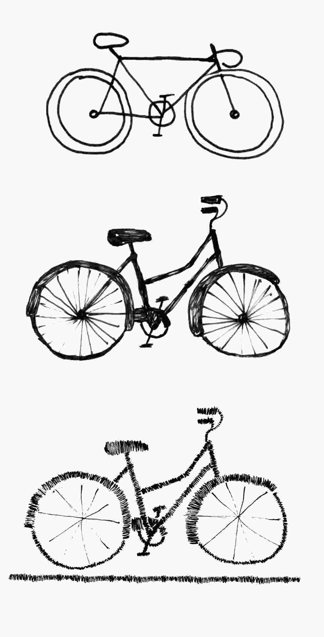easy to draw bike bicycle sketches youd look sweet upon the seat in