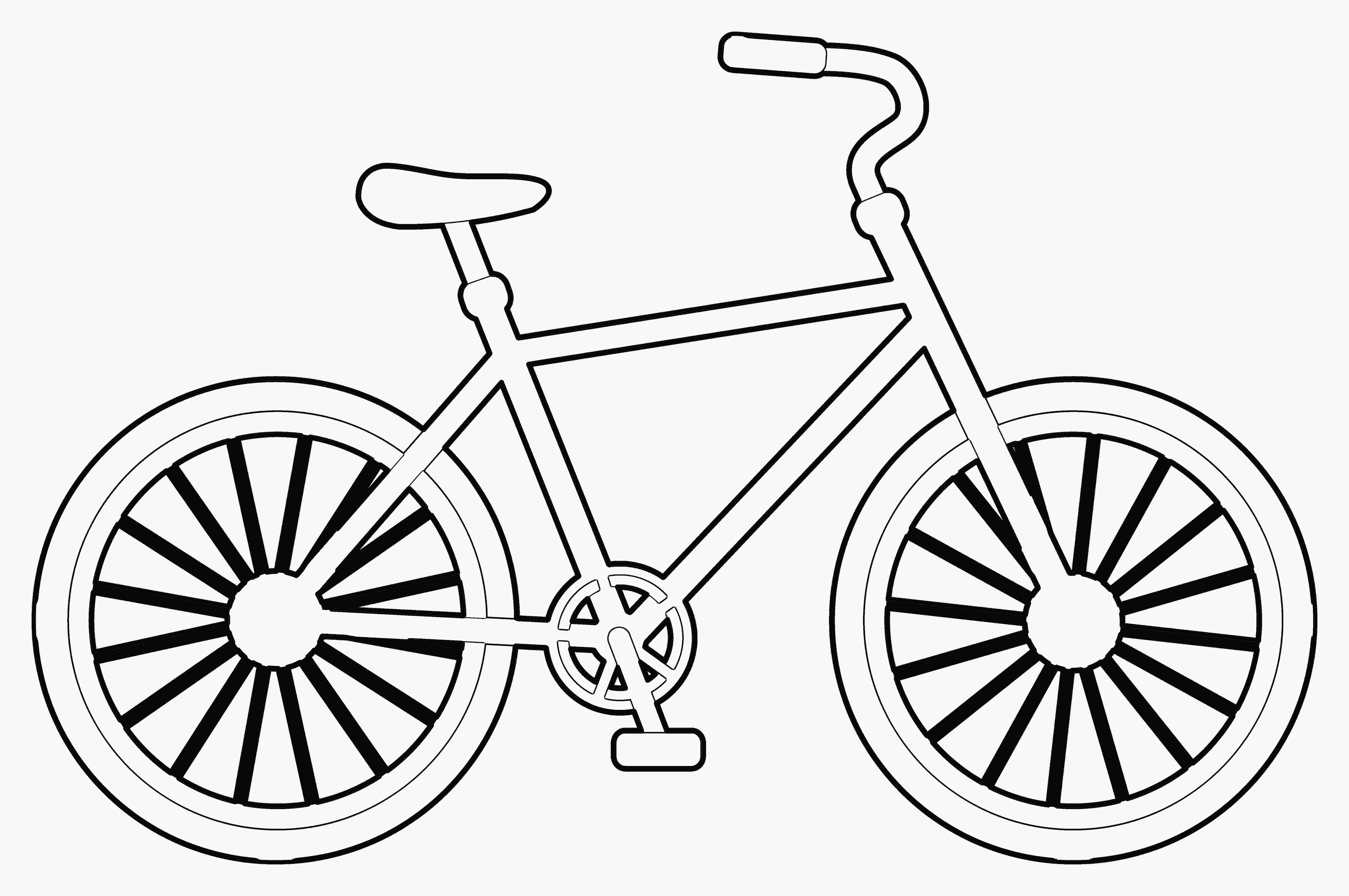 easy to draw bike easy bicycle drawing at getdrawingscom free for