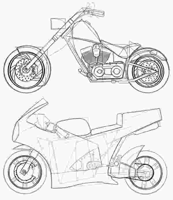 easy to draw bike how to draw vehicles motorcycles