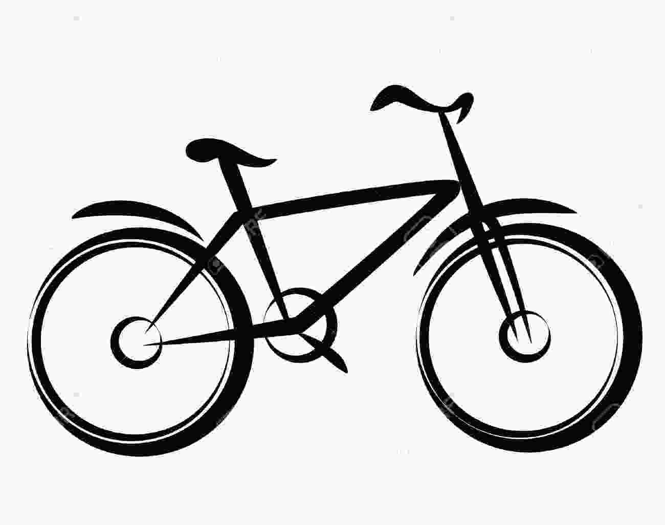 easy to draw bike simple bicycle drawing riding bike