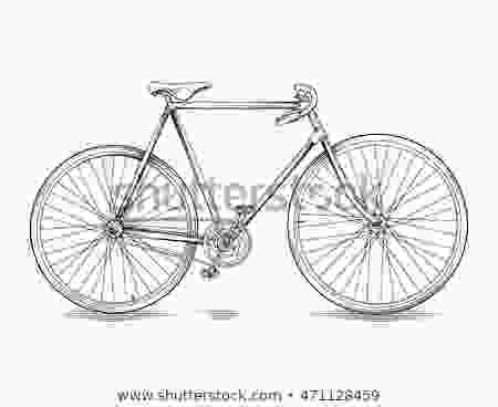 easy to draw bike vector drawing vintage race bike line stock vector