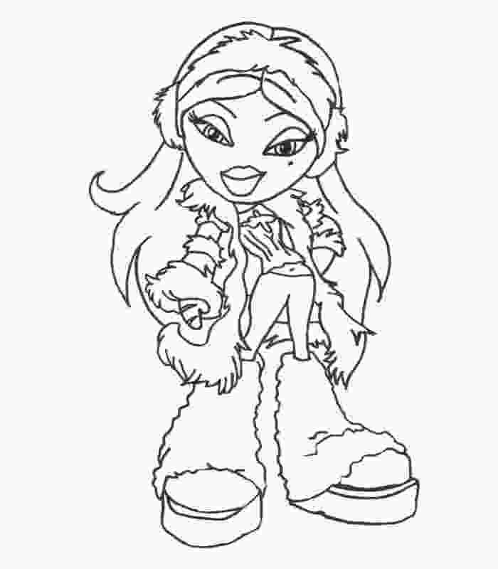 fashion bratz coloring pages free printable bratz coloring pages for kids things to