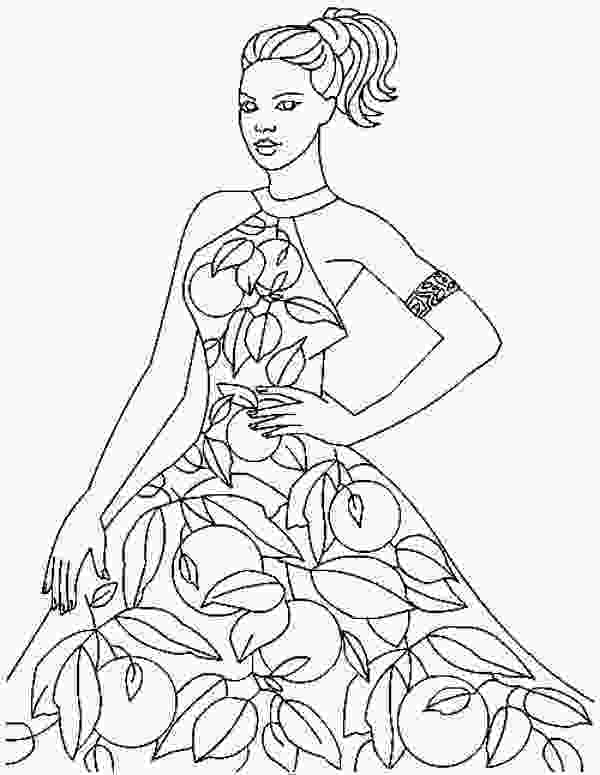 fashion designer coloring pages fashion design model templates sketch coloring page 1
