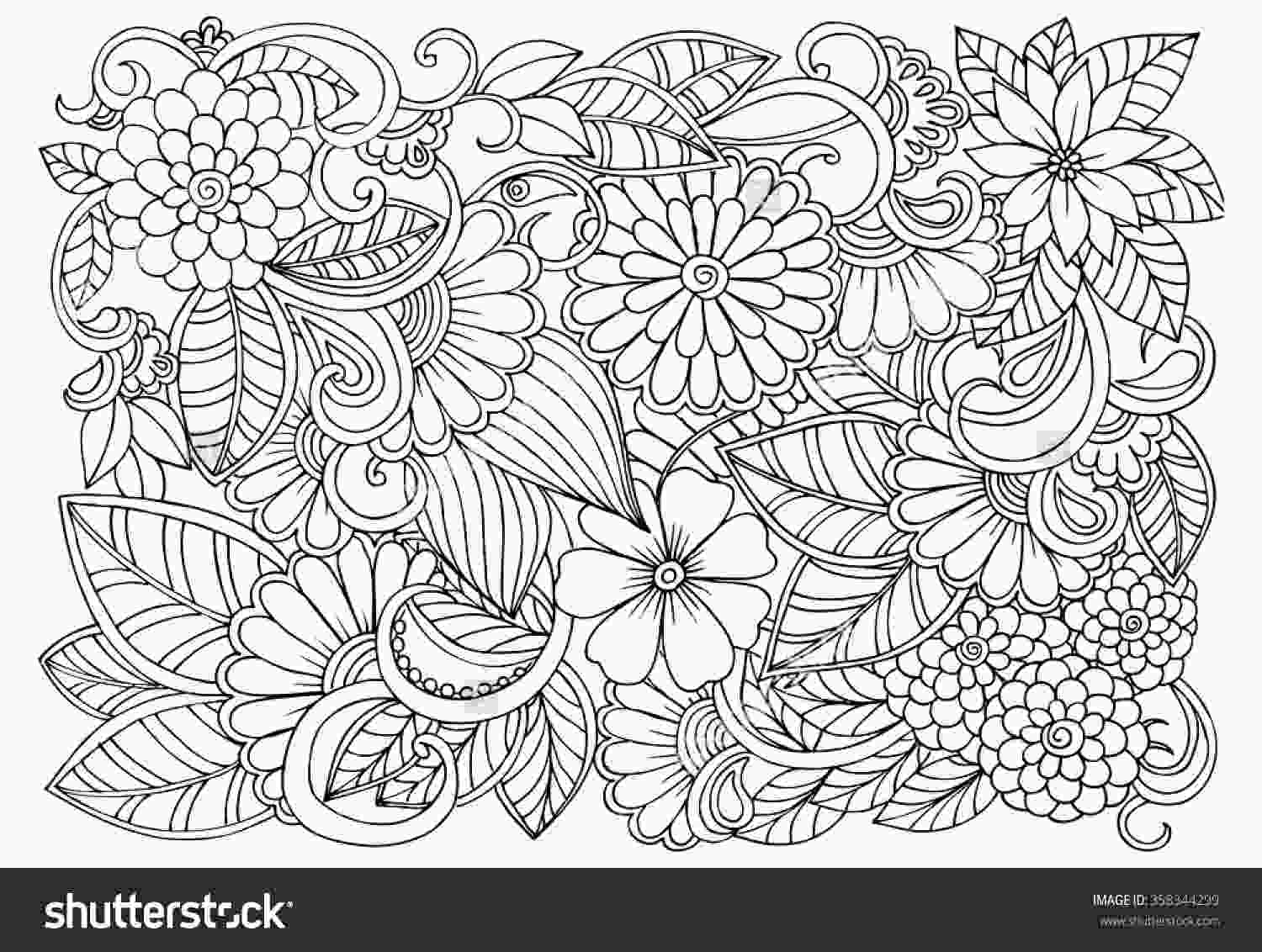 flower design coloring pages zentangle flowers coloring pages at getdrawingscom free