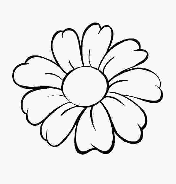 flower print out coloring pages daisy flower daisy flower outline coloring page