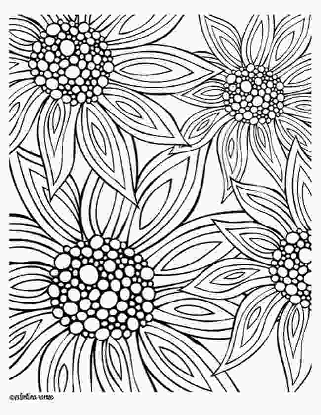 flowers color pages 12 free printable adult coloring pages for summer