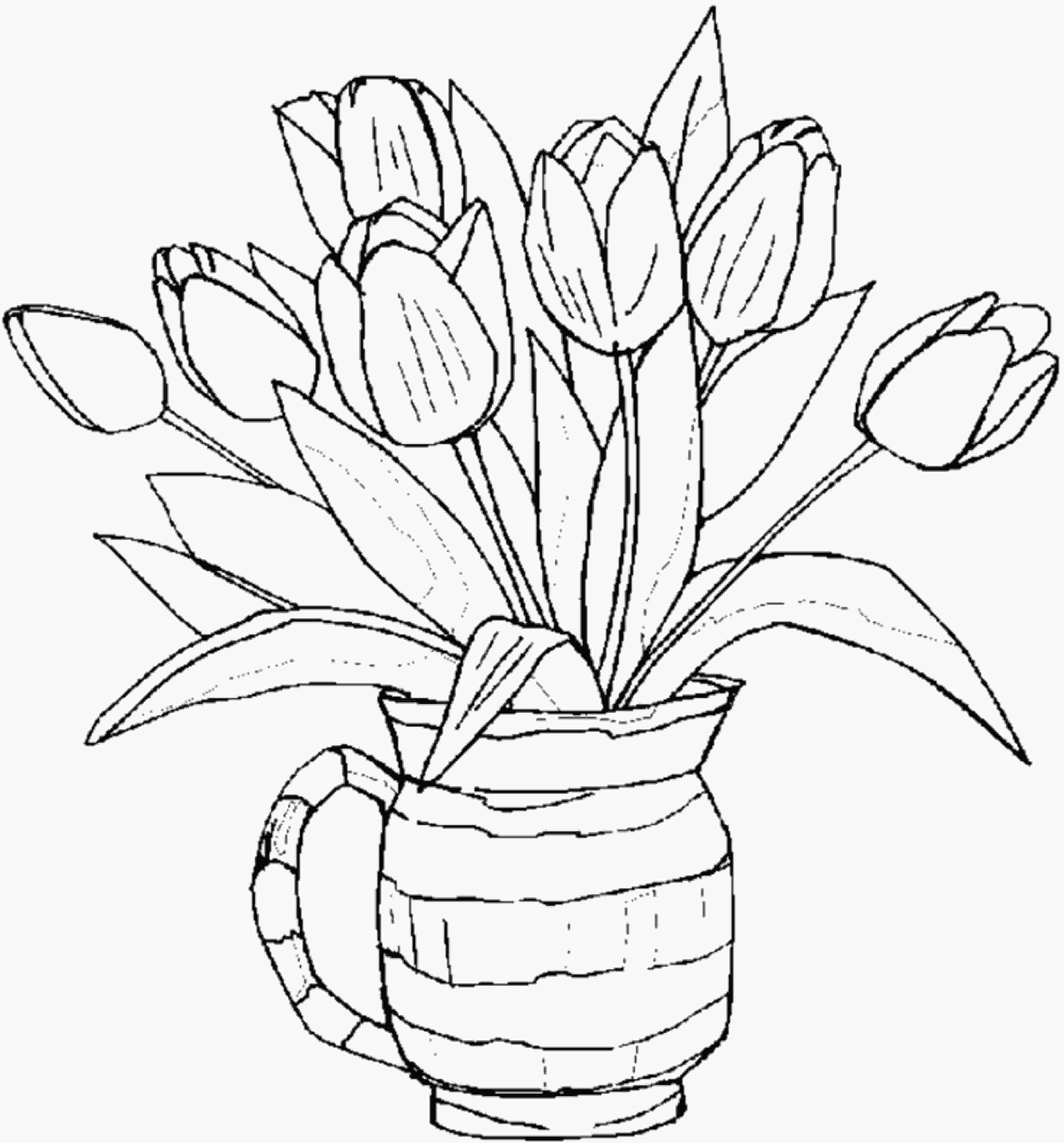 free flower coloring pages free printable flower coloring pages for kids best
