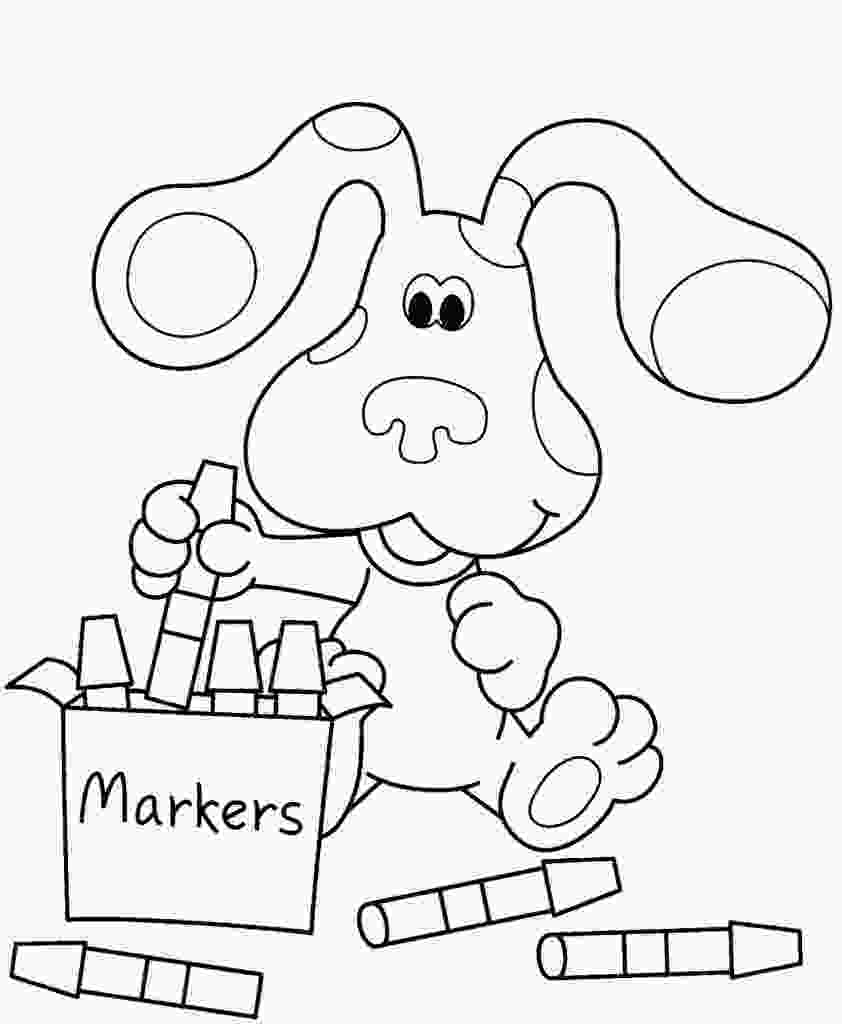 free kids coloring pages free printable blues clues coloring pages for kids