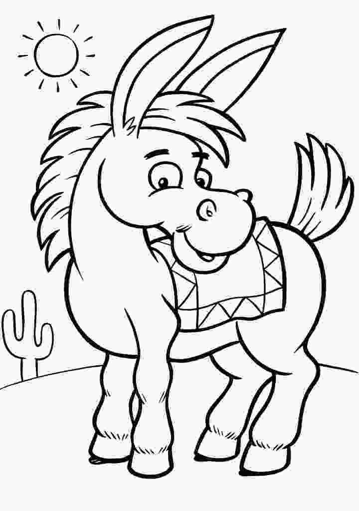 free kids coloring pages free printable donkey coloring pages for kids