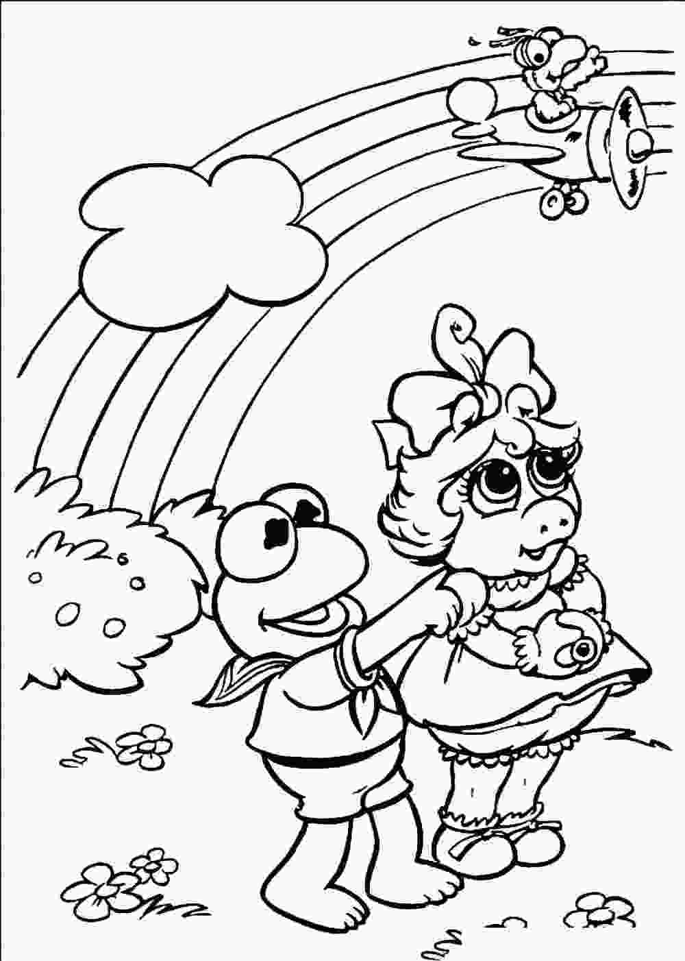 free kids coloring pages free printable rainbow coloring pages for kids
