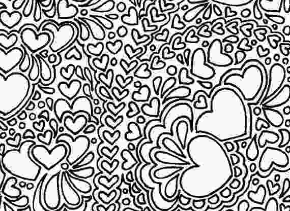 free printable abstract coloring pages abstract hearts printable adult coloring page