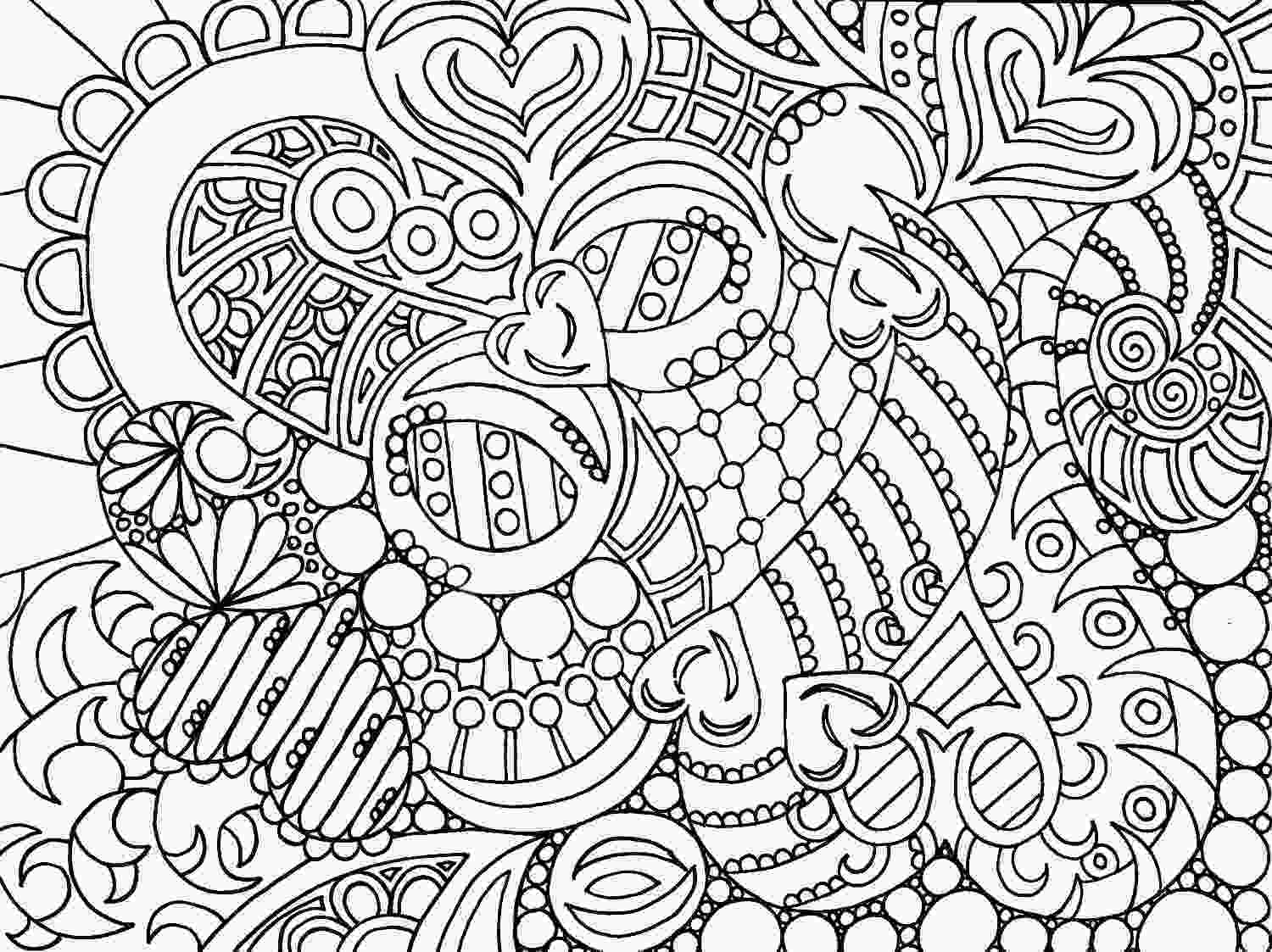 free printable abstract coloring pages coloriage adulte anti stress liberate
