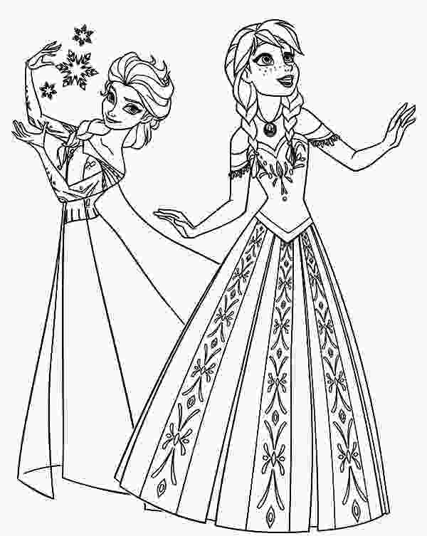 frozen princess coloring pages disney frozen queen elsa and princess anna coloring pages