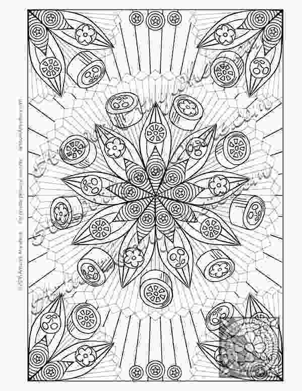 fruit mandala coloring pages candy jungle fruit and flower mandala adult coloring page