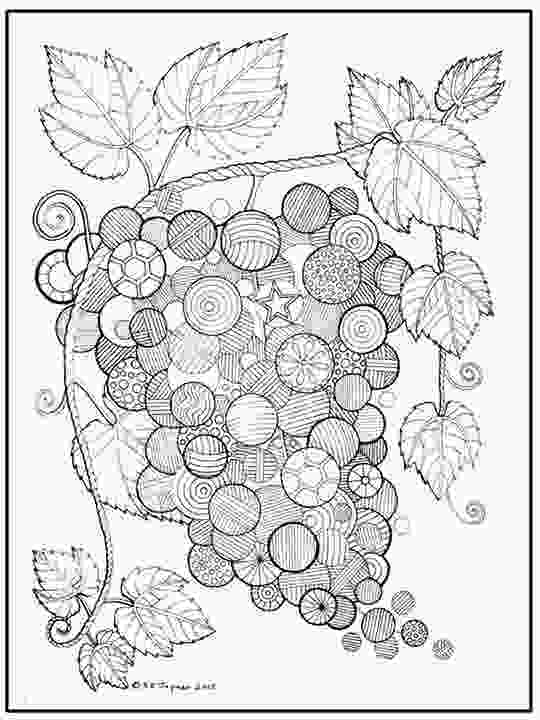 fruit mandala coloring pages grapes abstract doodle zentangle coloring pages colouring