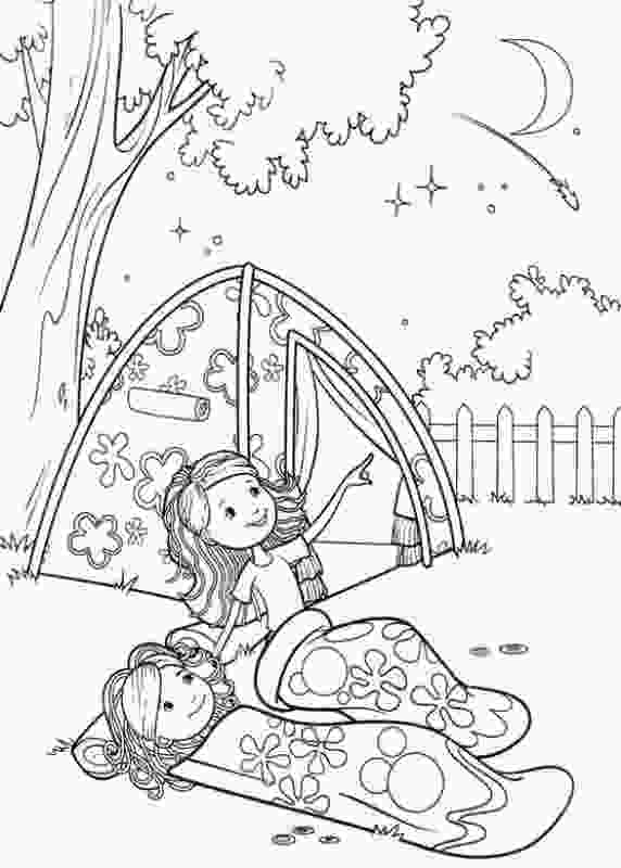 girl scout coloring page girl scout camping coloring pages groovy girls camp