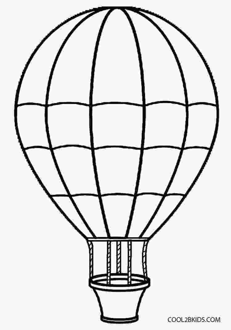 hot air balloon outline printable hot air balloon coloring pages for kids cool2bkids