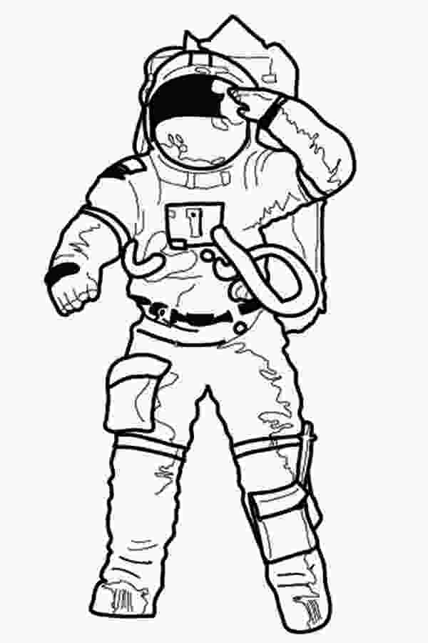 how to draw a astronaut an astronaut making a salute before going on mission
