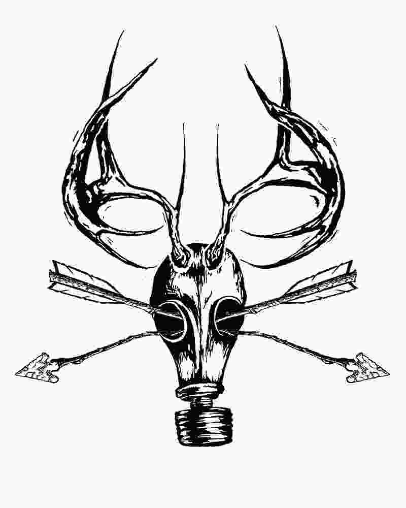 how to draw a deer head deer skull drawing clipart panda free clipart images