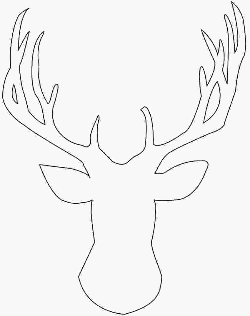 how to draw a deer head diy glitter deer head art holiday decorating canvases