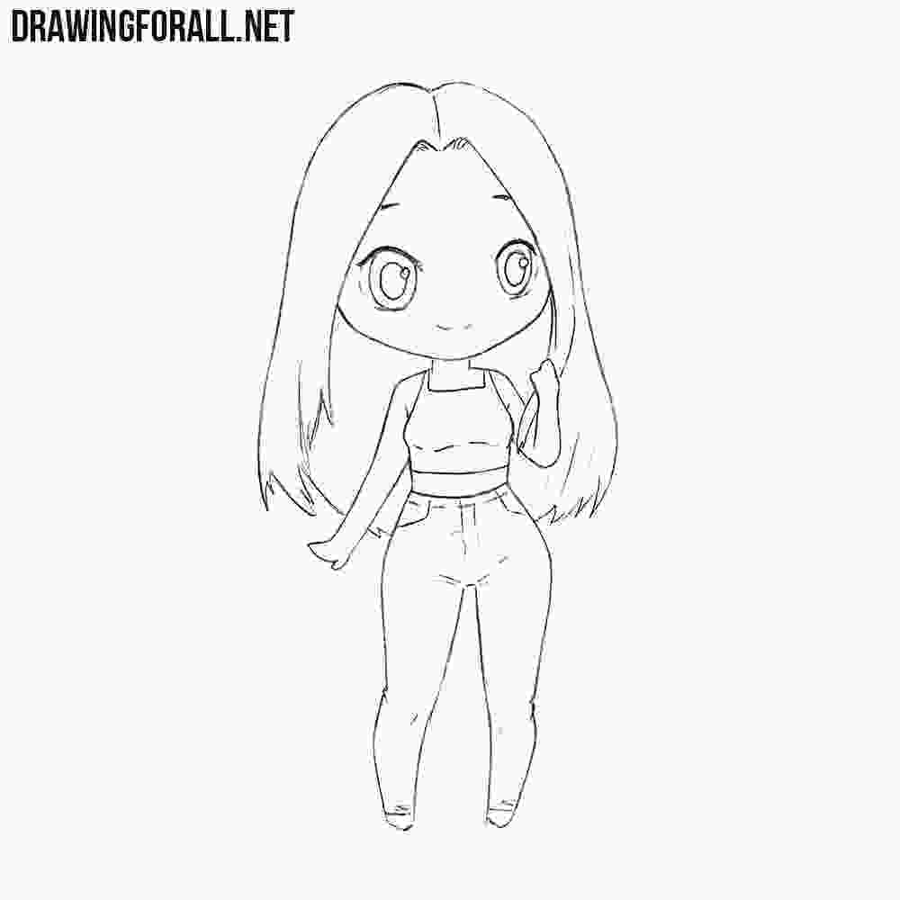 how to draw a girl how to draw a chibi girl drawingforallnet