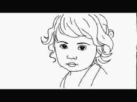 how to draw a girl how to draw a cute baby girl youtube