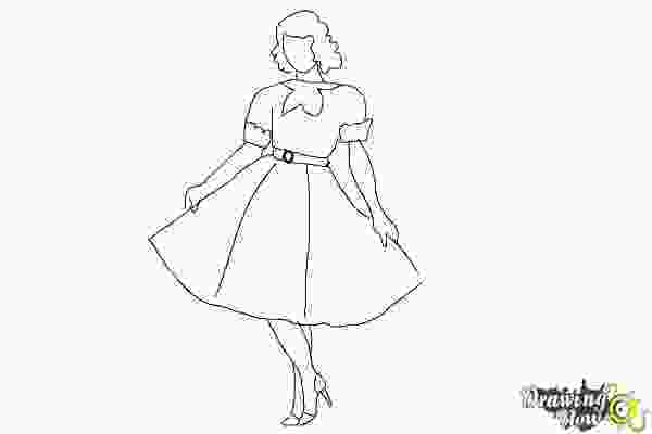 how to draw a girl how to draw a girl in a dress easy drawingnow