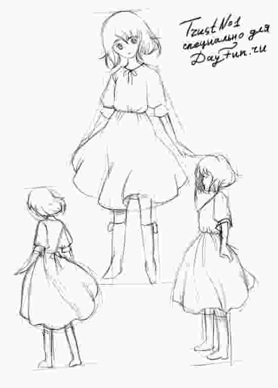 how to draw a girl how to draw a girl in a dress step by step arcmelcom 1