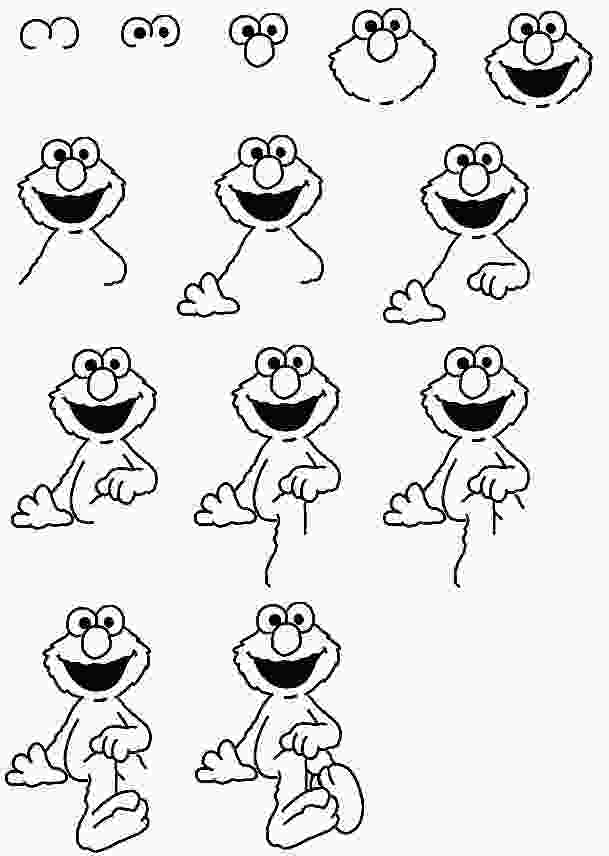 how to draw elmo step by step how to draw elmo elmo party in 2019 disney character