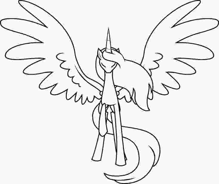 how to draw luna mlp mlp base deviantart alicorn outline painting ideas my