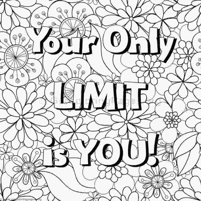 inspirational quotes coloring sheets inspirational word coloring pages 65 getcoloringpagesorg