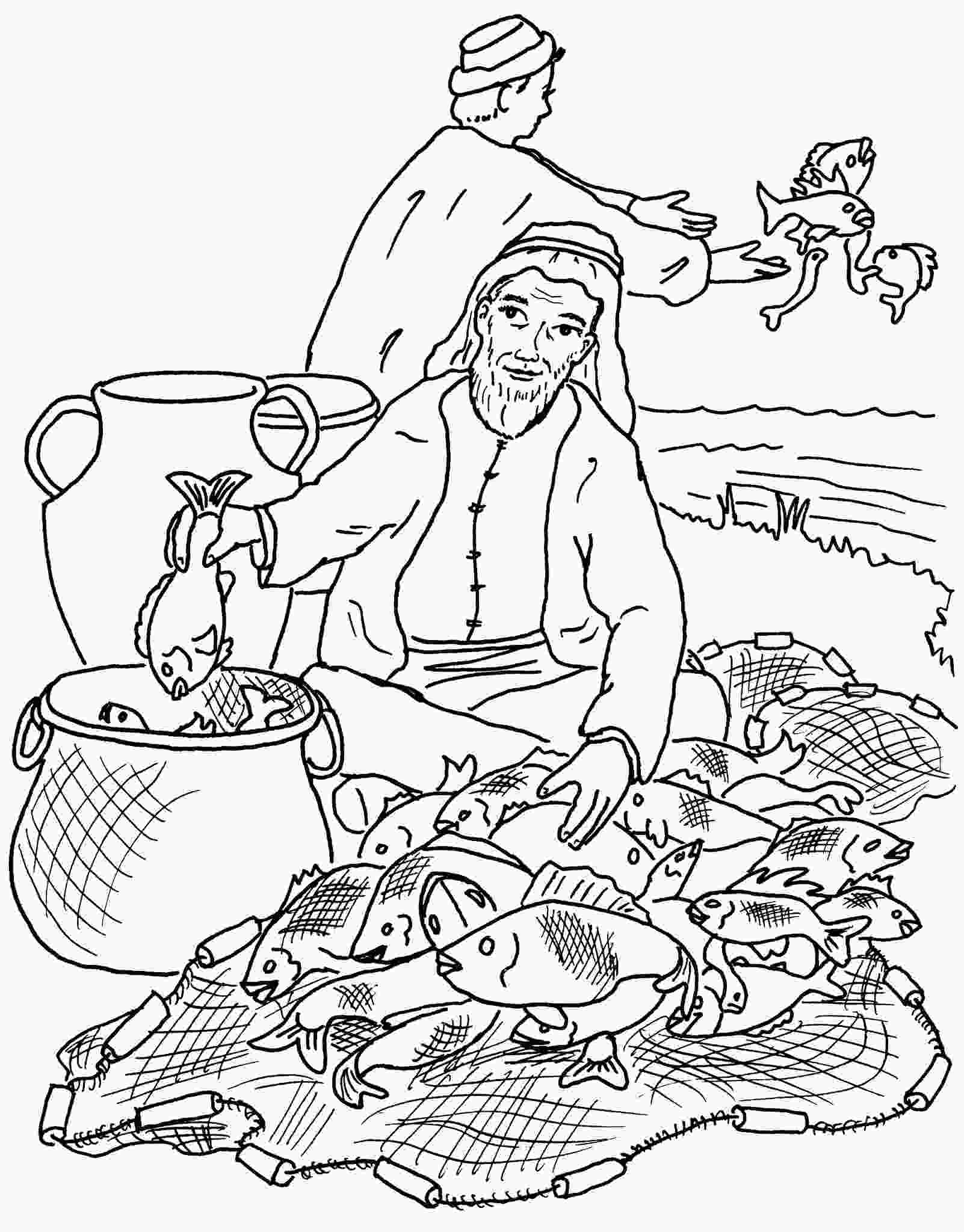 john 21 coloring page cut and paste parable of the net parables in art