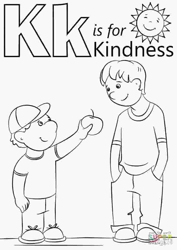 kindness coloring pages letter k is for kindness coloring page free printable