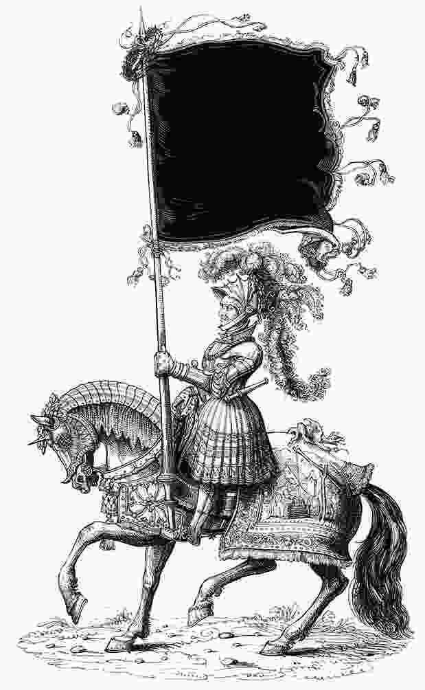 knight on a horse medieval clipart