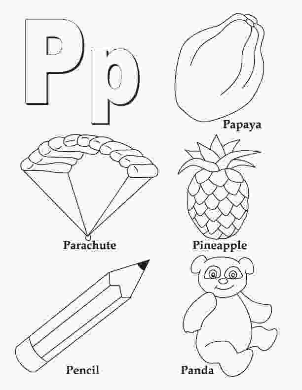 letter p coloring sheet my a to z coloring book letter p coloring page download