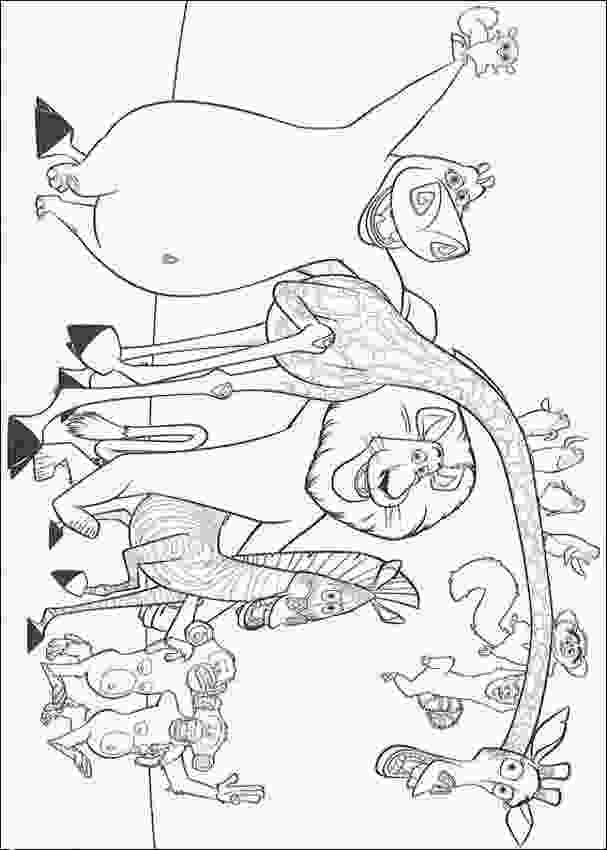 mort madagascar coloring pages prisoner tattoos animals pictures for colouring