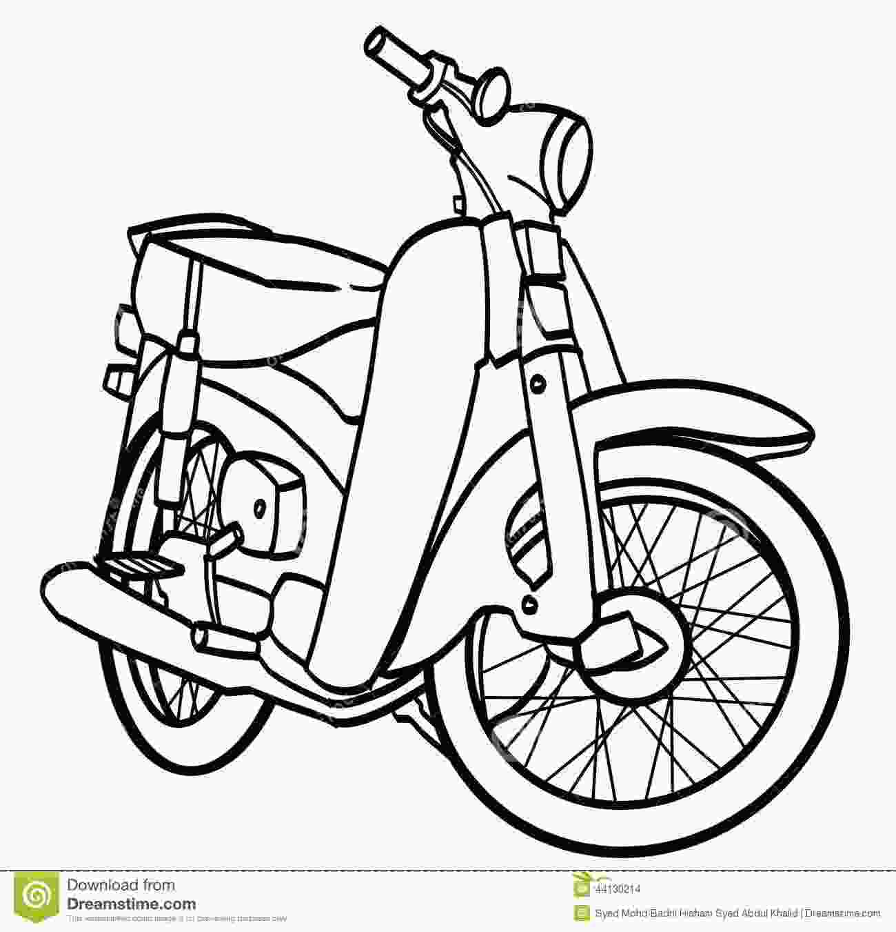motorcycle outline drawing motorcycle stock illustration illustration of athlete