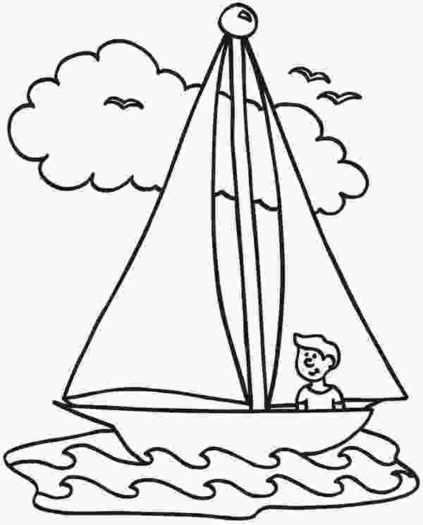 nautical flag coloring pages sailing boat line drawing at getdrawingscom free for