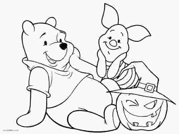 pooh coloring pictures free winnie the pooh halloween coloring pages